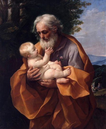 Saint Joseph with the Infant Jesus by Guido Reni c 1635
